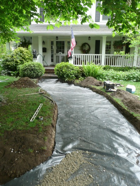 Rock Landscaping Underlayment : Laying paver installation special additions